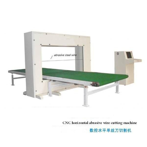 PU cnc horizontal abrasive wire cutting machine