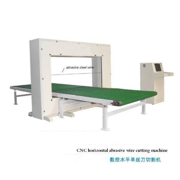 PU cnc horizontal abrasive wire cutting machine