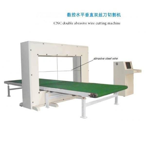 PU cnc dual abrasive wire cutting machine