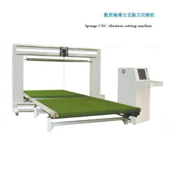 sponge cnc vertical vibration blade cutting machine
