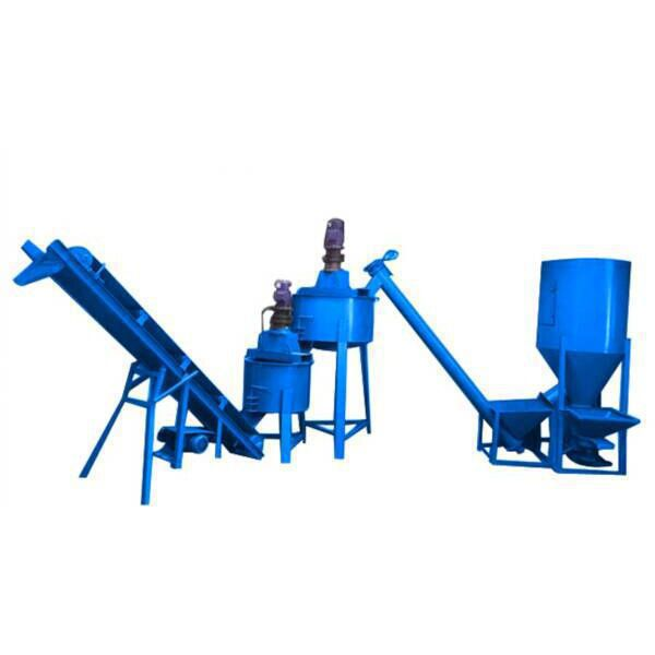 mortar mixer and conveyor