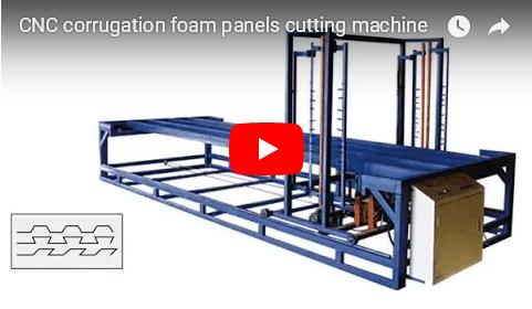 youtube video of CNC corrugation cutting machine