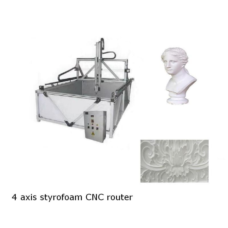 4 axis cnc foam router