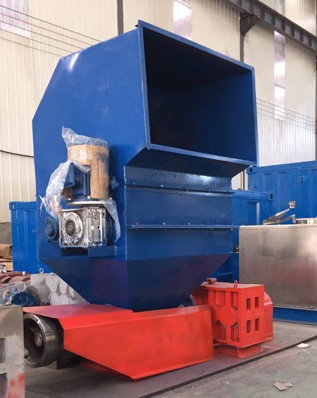 twin shaft crushing melting machine