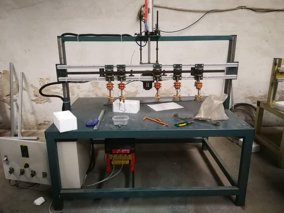 EPS grooving machine